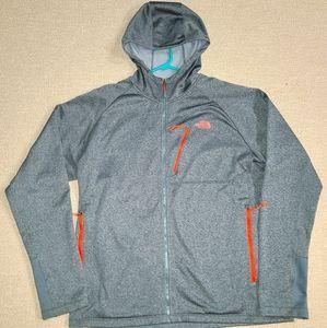 Mens North Face XL Dryfit Zip-up Hoodie.